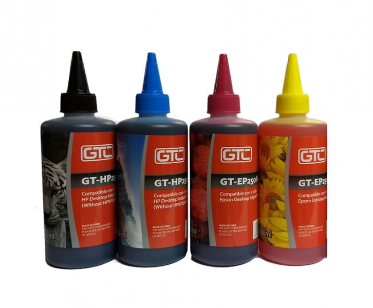 Tinta HP 250ml. negro o colores